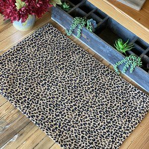 DAY DREAMING LEOPARD RUG- BROWN AND BLACK